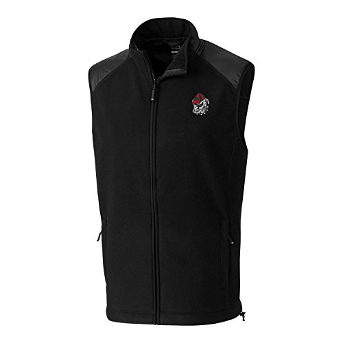 - Cutter & Buck NCAA Georgia Bulldogs Adult Men Cedar Park Full Zip Vest, X-Large, Black