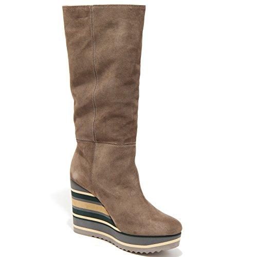 senza Shoes Zeppe Donna Women Scarpe Boots Scatola 1284m Tortora Palomitas Stivali 5TPwq404