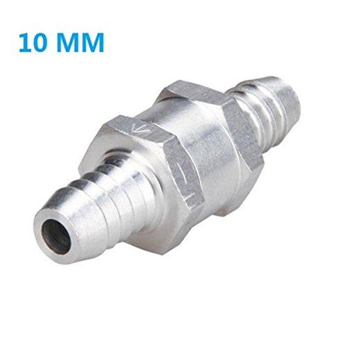 "Price comparison product image Lenmumu Non Return One Way Check Valve Prevent Oil Petrol Diesel Water,  Aluminium Alloy (10mm (3 / 8"")"