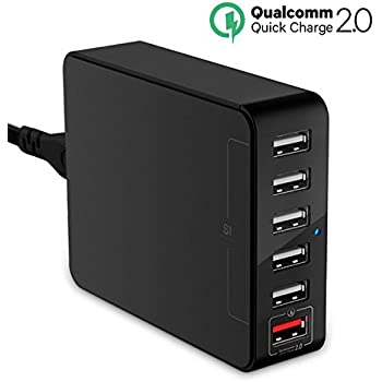 USB Charger, Jelly Comb Desktop Charger : 6-Port USB Charging Station, Charger Hub, Multiple USB Charger, USB Power Adapter for iPhone 7, iPad, Samsung Galaxy S8 S8 Edge, LG G5, Nexus All Smartphone