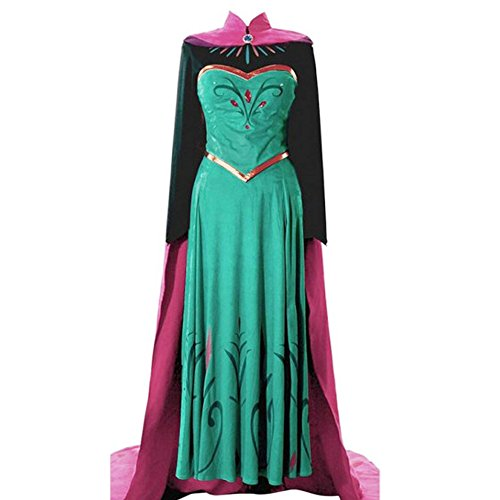 Halloween Frozen Costumes - Adult Elsa Coronation Dress Halloween Costume Disney Frozen Inspired Cosplay S-XXl (XL)