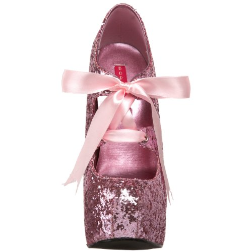 Glitter by Pleaser Teeze Glitter Rosa Pump Platform 10 Women's Bordello PwPqrpx5X