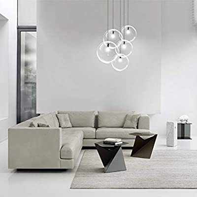 CUICAN Modern Simple Glass Chandelier, Nordic Modern Creative Pendant Lights for Living Dining Bar Cafe Decoration