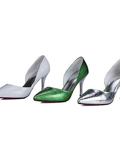 GGX/Damen Schuhe Rindsleder Sommer/Herbst Heels/spitz Toe Heels Office & Karriere/Casual Stiletto-Absatz andere grün/silber/gold white-us6 / eu36 / uk4 / cn36