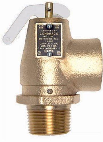(Apollo Valve 13-211 Series Bronze Safety Relief Valve, ASME Steam, 5 psi Set Pressure, 3/4