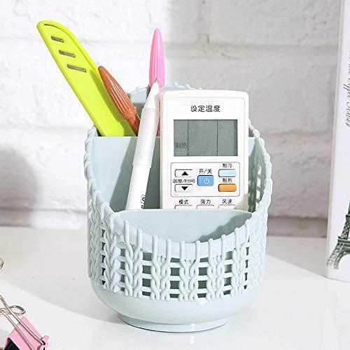LtrottedJ Plastic Compact Basket For Kitchen Bathroom Office Desk Organizer Pen Holder (Light blue) ()