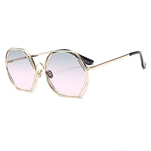 Gafas De Y De Unidos De De Pink Blue Sol Trend Sol Moda Gafas Metal Europa Redondas Gafas Estados rrwvq6