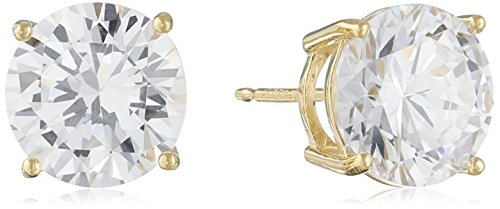 Sterling-Silver-Round-Cut-Cubic-Zirconia-Stud-Earrings