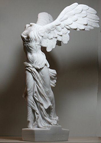 Winged Nike Victory of Samothrace Goddess Alabaster Statue Sculpture 14.17΄΄