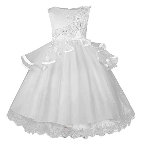 Keliay Bargain Flower Kids Girl Dress Princess Embroidery Pageant Gown Party Bridesmaid ()