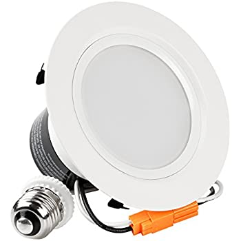 4-inch ENERGY STAR UL-classified 12W Dimmable Retrofit LED Recessed Lighting Fixture, 85W Halogen Equivalent LED Ceiling Downlight, Daylight 5000K, 850LM, 120° Beam Angle Remodel Can Light