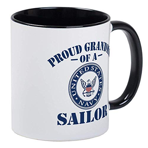S Navy Sailor Mug - Ceramic 11oz RINGER Coffee/Tea Cup Gift Stocking Stuffer ()