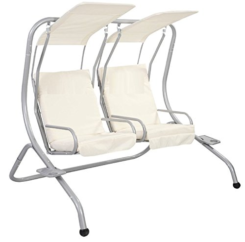 Red Splashproof 2 Seater Garden Hammock Swing Seat Canopy Cover /& Cushion Set