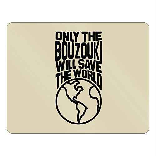 Only the Bouzouki will save the world Novelty Aluminum Me...