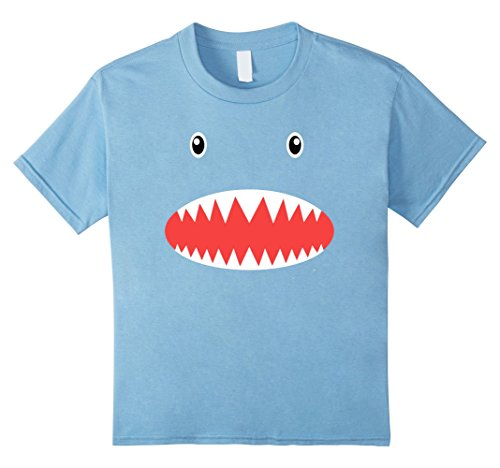 Kids Shark Face T-Shirt Cute Fish Halloween Costume Top Tee 10 Baby (Top 10 Halloween Costume Ideas)
