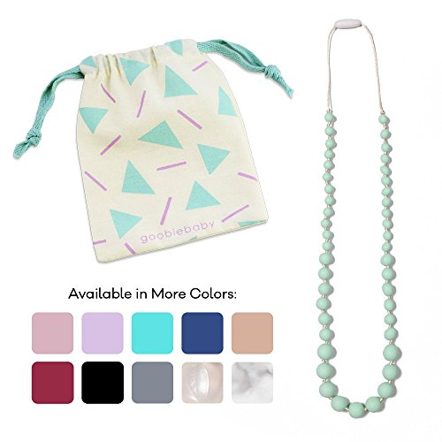 Goobie Baby Audrey Silicone Teething Necklace for Mom to Wear, 100% Safe Silicone (Teething Necklace, Mint)