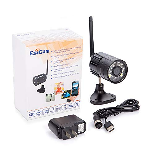 EsiCam Battery Backup Camera Wireless for Smart Phone Versatile Used for RV Travel Trailer Hitch Tow Truck Home Security Baby Monitor Creative All in One Camera with Flash and Battery-EH05
