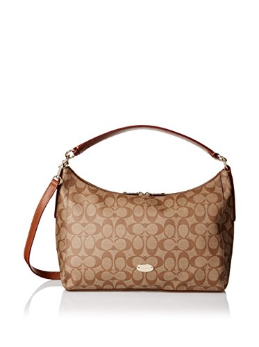 Free Coach East/West Celeste Women's Hobo Handbag Bag F34899 Brown