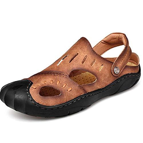 Comodo 38 Baotou Spiaggia Comfort Scarpone Da La In Sconosciuto Brown Sandali Scarpa Uomo Per Ortopedico Pelle Per tanYB