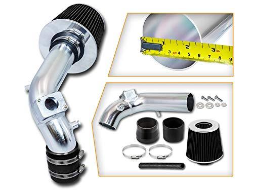 Rtunes Racing Short Ram Air Intake Kit + Filter Combo BLACK Compatible For 08-14 Mitsubishi Lancer 2.0L/2.4L ...
