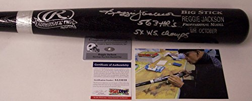 Reggie Jackson Autographed Hand Signed Baseball Bat - PSA/DNA