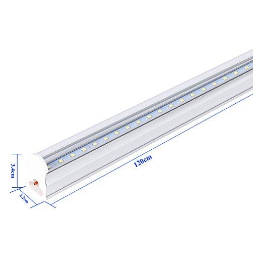 Linkable Led Shop Light: 10 PACK T5 4FT Linkable LED Shop Light 6000K Daylight
