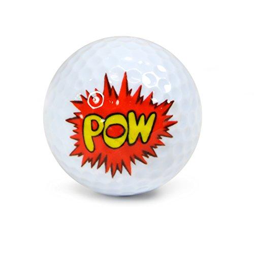 Pelotas de golf subterráneas de la novedad de Nicks - tubo de exhibición del paquete de 3 Pow Wow # NUG36