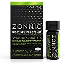 ZONNIC Nicotine Mini Lozenge Quit Smoking Aids, Sugar Free Stop Smoking Lozenges (Mint, 2mg - 10 Count)