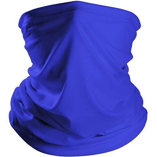 Chuangdi Summer Bandana Face Mask Thin Neck Gaiter Sun Mask Headwear Lightweight Face Mask Elastic Face Scarf Mask for Summer Protection (1, Royal Blue) ()