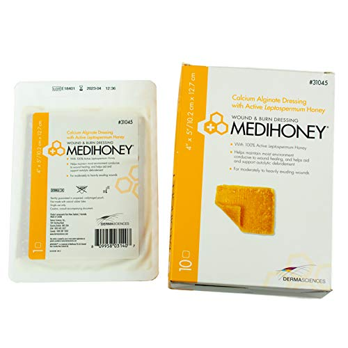 Medihoney Calcium Alginate Dressing, 4