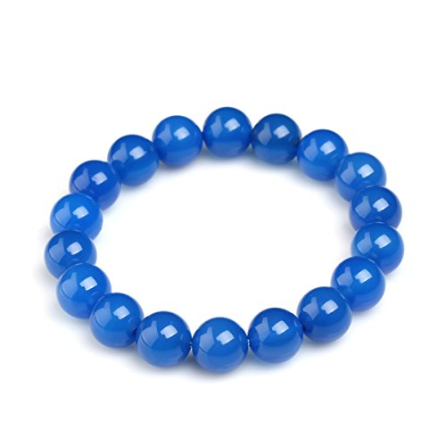 MATT HANN 3A Brazil Blue Agate Bracelet 10mm Nice Dream Original Handmade Grouding Stone Protection