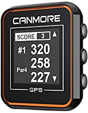 CANMORE H-300 Handheld Golf GPS - Essential Golf Course Data and Score Sheet - Minimalist & User Friendly - 38,000+ Free Courses Worldwide and Growing - 4ATM Waterproof - 1-Year Warranty (Orange)