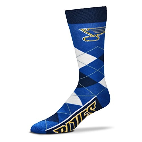 - For Bare Feet NHL Argyle Lineup Unisex Crew Dress Socks-One Size Fits Most-St Louis Blues