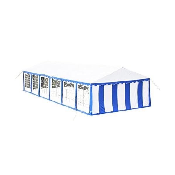 Shengfeng Tendone da Festa 12 x 6 m Blu.Gazebo Pieghevole Gazebo da Giardino Gazebo eurolandia Gazebo Esterno Gazebo… 2 spesavip