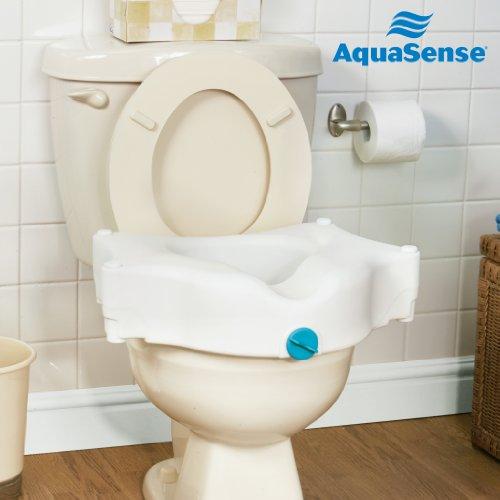 Aquasense 3 Way Raised Toilet Seat White 4 Inches