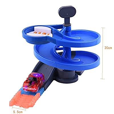 ONTOPON Rotary Tower for Magic Track Accessory(Blue Rotary): Toys & Games