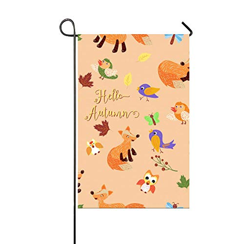 Hello Autumn Pattern Garden Flag Yard Decorations Flag for O