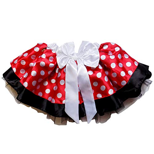 Sparkle Running Costume Skirt Race Tutu, Costume, Princess, Ballet, Dress-Up, 5K (XL (One Size for Plus), Minnie Mouse)
