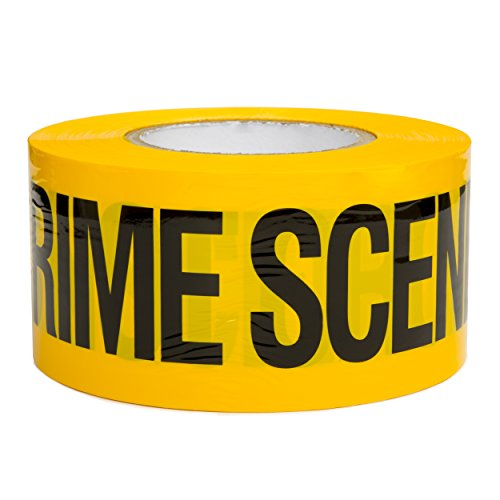 Crime Scene Do Not Cross Barricade Tape 3 X 1000 • Bright Yellow with a bold Black Print for High Visibility • 3 in. wide for Maximum Readability • Tear Resistant Design]()