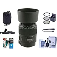 Sony 100mm f/2.8 Alpha A DSLR Mount Lens - Bundle With 55mm Filter Kit, Lens Pouch, Cleaning Kit, Capleash II, LensPen Lens Cleaner, Software Package