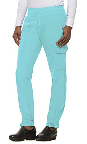 - healing hands HH360 Women's Nikki 9154 Button Cuff Yoga Waist Scrub Pant- Capri- Small Tall