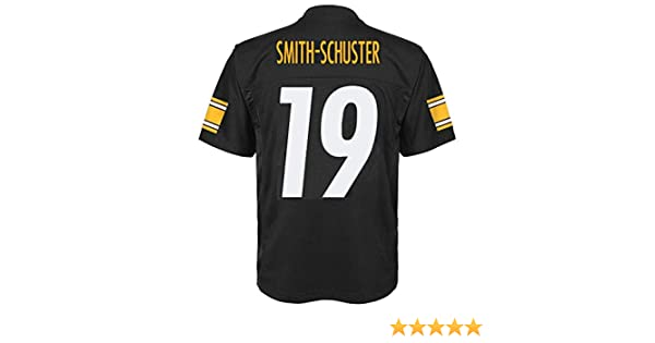Outerstuff Juju Smith-Schuster Pittsburgh Steelers NFL Kids 4-7 Black Home Mid-Tier Jersey