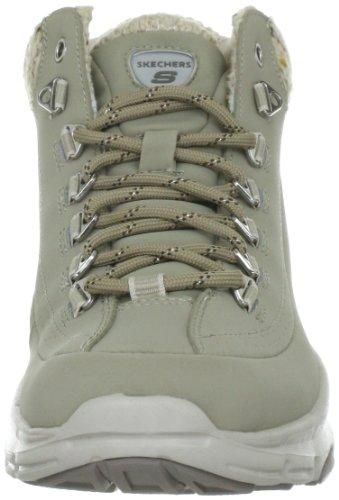 Skechers BravosSnow Melt 99999661 STBR - Zapatillas fashion de cuero nobuck para mujer Gris