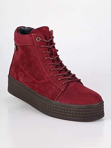 Tessuto Alte Donna Bordo Platform Sneakers Con wSIqanq4