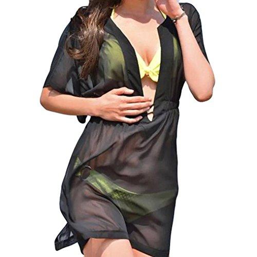 lungo beautyjourney donna Nero estate donna costumi lungo vestito elegante Donna lungo copricostume costume Copricostume vestiti donna estivo pizzo abito Bikini mare donna Sexy lungo 8wtCO