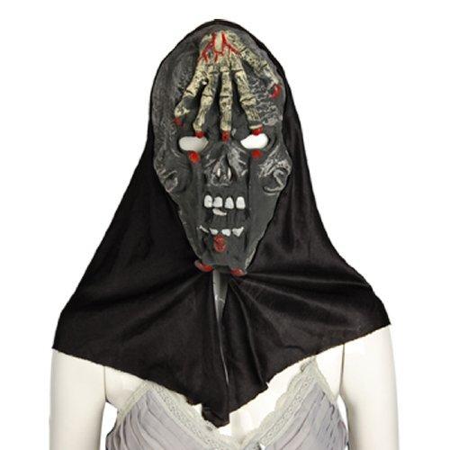 eDealMax Horrible Fronte Mano del cranio Maschera di Halloween Hood for $<!--$7.58-->