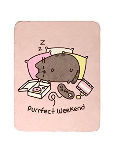 Pusheen The Cat Purrfect Weekend Plush Throw Blanket