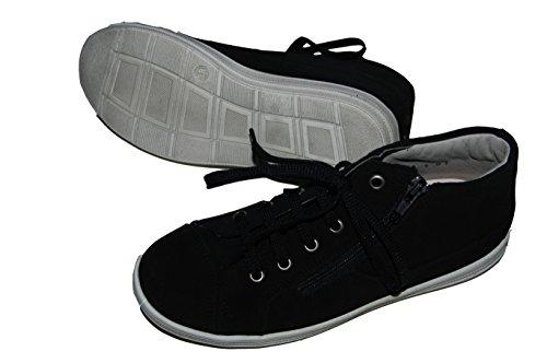 Helgas Modewelt Däumling Kinderschuhe, Hohe Schuhe, Sneaker, Kommunionsneaker schwarz-weiß (Turino schwarz)