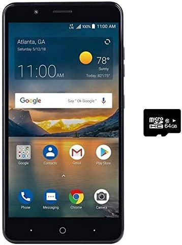 ZTE Blade X2 MAX Z6400C (32GB, 2GB RAM) 6.0″ Full HD Display, Dual Rear Camera, 4080 mAh Battery, 4G LTE GSM Unlocked Smartphone (US Warranty) (32GB + 64GB SD Card)