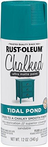 Rust-Oleum Series Rustoleum 302597 12OZ Tidal Pond Chalked Paint Spray, (Tidal Series)